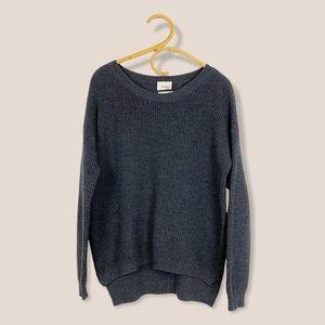 Aritzia   Wilfred Free   Dark Grey Isabelli Sweater